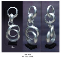Wholesale Annular ring Large modern abstract sculpture resin crafts Decoration company opening hotel lobby decoration gift ornaments