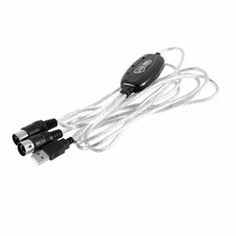 Wholesale 2M Superior USB IN OUT MIDI Interface Cable Converter PC to Music Keyboard Adapter Cord FOR Edit Program MUSIC YAMAHA