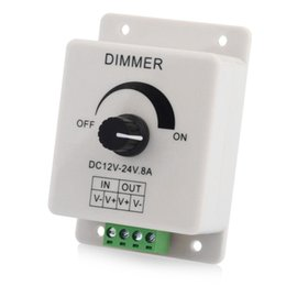 LED Strip Dimmer PWM Dimming Controller for LED Lights Lamps or Ribbon Adjustable Control 12-24V 8A