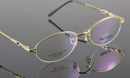 Wholesale Glasses Women Eyewear Semirim Metal Optical Eyewear Frames Eyeglasses Spectacles Concise Designer Clear Demo Lenses Plano