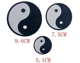 Wholesale GP black white YIN and Yang patches sew on patch Applique cartoon iron on patches garment accessories