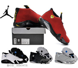 online shopping 2016 Nike Jordan Basketball Shoes Top Quality Mens Retro Fusion Black Red Air Force J14 XIV Playoffs Sneakers With Shoes Box