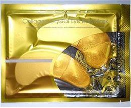 Wholesale IN Store Eye care Crystal Collagen Gold Powder Eye Mask Crystal Moisturizing Eye Mask Top Quality DHL free