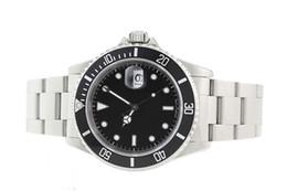 Wholesale Luxury New Brand Men watch stainless steel BLACK BEZEL automatic mechanical mens WATCH