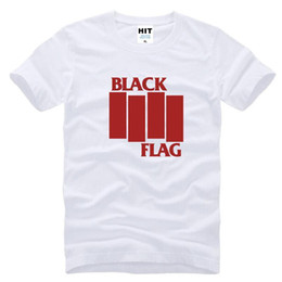 Wholesale WISHCART Black Flag punk rock band Henry Rollins large bars Men s T Shirt T Shirt For Men Short Sleeve Cotton Camisetas Masculina