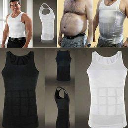 Wholesale Vente en gros nouveaux hommes de la mode de courir corps de contrôle Vest Slimming Shaper Vest cacher le ventre Tummy Waist Girdle Shirt Underwear