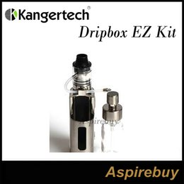 Wholesale Kanger Dripbox EZ Kit Drip EZ RBA Tank and Drip EZ W TC Mod Unique Juice Pump Delivery System Replaceable Bottle Two Post Deck Genius