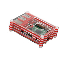 Absolutely High Quality Red 9 Layers Sliced Acrylic Case for Raspberry Pi Model B+ and Raspberry Pi 2 Model B