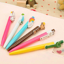 Free Shipping 30pcs lot Cute Cartoon Ball Point Pen Gel Ink pen Writing Pens Student Stationery