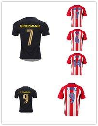 Wholesale Thailand Quality La Liga Madrid Soccer Football Jerseys Embroidery Logos KOKE GRIEZMANN F TORRES ARDA JACKSON M GABI