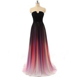 Wholesale Plus Size Best Selling Imported From China Long Sexy High Quality Formal Ruffle Chiffon Gradient Women s Evening Party Dresses