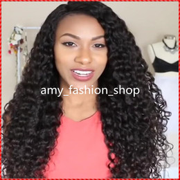 2016 New fashion fluffy natural color long curly full lace wig or lace front silk top human hair wig