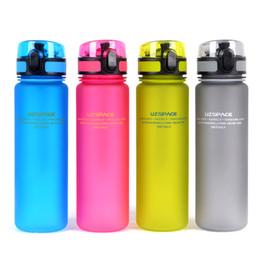 Promotion choix de sports Bouteille d'eau Lovers Portable (500ml) Coupe d'eau en plastique Choix pour les sports Outdoor School livraison gratuite