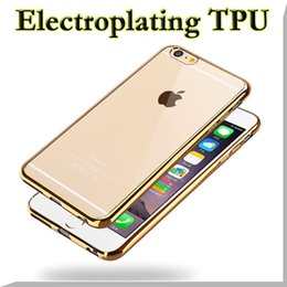 Wholesale Royal Plating Gilded TPU Gel Electorplating Silicone Soft Back Cover Case For iPhone s Plus Samsung Galaxy S7 J1 Ace J2 J3 J5 MOQ