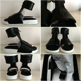 Wholesale Drop Shipping LAB Benassi Cuff Lux Slides Sandals Black massage Sandal Women ladies Sandals Size