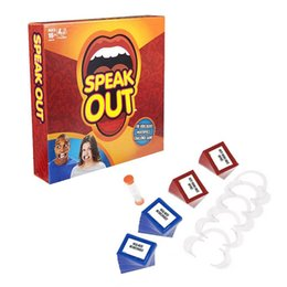 Hasbro Speak Out Game The Ridiculous Mouthpiece Challenge KTV Game Board Interesting Party Game For Christmas Game Funny Toys