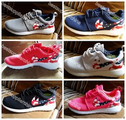 Wholesale 2016 New Roshe Run American Flag Shoes Men And Women USA Flag Rosherun Breathable Sneakers London Olympic Roshes Running Shoes