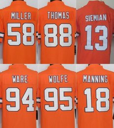 Wholesale Color Rush Limited Broncos jerseys rugby football jerseys THOMAS MILLER SIEMIAN WARE WOLFE orange freeshipping