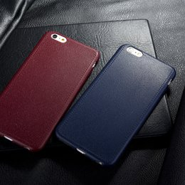 Wholesale Super Thin Leather Pattern Texture Phone Cases For iPhone S SE S Plus inch Luxury Soft TPU Comfort Back Cover