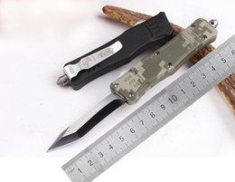 Petit MICROTECH Troodon OEM EDC Couteaux en alliage de zinc Couleur Poignée Micro Outils de coupe 616 bord unique Curve Lame tactique Couteau de chasse D2shop à partir de outil de coupe incurvée fournisseurs