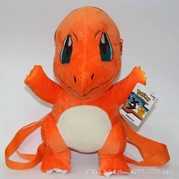 Wholesale 13 quot cm Poke Pocket Monsters Style Pikachu Charmander Squirtle Plush Bag backpack Fashion bag Stuffed Toy For Child Gofts