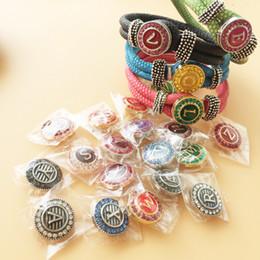 Real Photoes 4pcs DIY PU Snap Charms Bracelet 26Pcs 20mm English Letters Noosa Snap Buttons 30pcs Lot Interchangeable Bracelet F342L