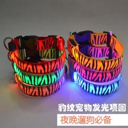 LED flashing dog collar Pets collars 2.5cm Dog Lights Flash Night Safety Collar LED Collar Dog Neck Leashes Retail sales