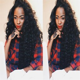 Glueless full lace human hair wigs for black women kinky curly lace front wig middle part bleached knots free shipping