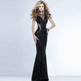 Fashion Sexy Women Dress Female Wedding Casual Dress Party Evening Sequined Backless Long Dress Corset Black