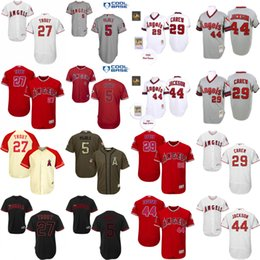 Wholesale Men s Mike Trout Rod Carew Reggie Jackson Albert Pujols Jersey Men s Los Angeles Angels Of Anaheim baseball jersey Stitched