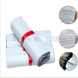 Impression poly en Ligne-White Poly Sacs d'expédition Logo personnalisé Printed Plastic Shipping Mailing Bag 17 * 30cm