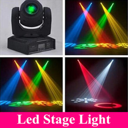 Wholesale LED W spots Light DMX Stage Spot Moving Channels dj gobos effect stage lights Mini LED Moving Head Fast Shipping
