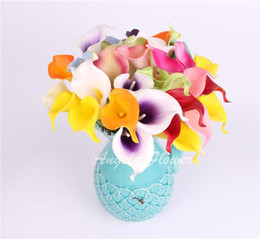Wholesale Beatiful colors real touch Artificial Flower Romantic Wedding Calla Lily Artificial Flower For home Decorition