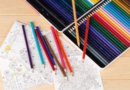 Wholesale A866 colour pencil Write painting Tin Water soluble pencil Student children Non toxic Secret Garden Coloring Artist Sketch