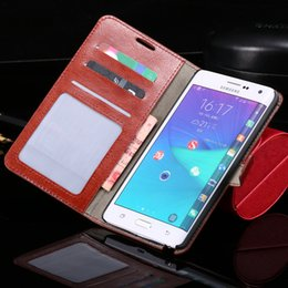 Wholesale-For Note Edge Retro Flip Wallet Leather Case For Samsung Galaxy Note Edge N9150 Luxury With Cards Slot Stand Super Phone Covers