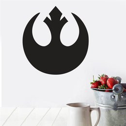 Wholesale 42 cm STAR WARS wall stickers kids living room home decoration handsome popular sign for boys bedroom movie decals poster