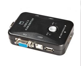 Wholesale MT VIKI MT UK CH New USB KVM Switch Switcher Port VGA SVGA Switch Box USB Mouse Keyboard