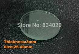 Wholesale Crystal Mineral Wholesalers - Wholesale-Free Shipping 2pcs 3mm Selected Size 25~40mm Flat Mineral Round Watch Glass Accessories Watch Repair Crystal