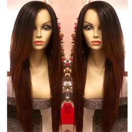 High quality Malaysian hair silky straight lace front wig ful lace wigs side part for black woman