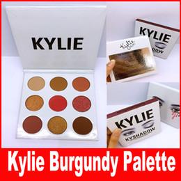 Wholesale NEW Kylie Jenners Burgundy Eyeshadow palette Kylie Jenner Cosmetics The Burgundy Eyeshadow Palette Kyshadow
