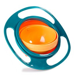 YIYUAN Gyro Bowl- Spill Resistant Kids Gyroscopic Bowl with Lid Non Spill Bowl Pink Blue Green Free Shippg