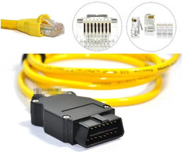 2017 New arrival for BMW ENET (Ethernet to OBD) Interface Cable E-SYS ICOM Coding F-Series free shipping