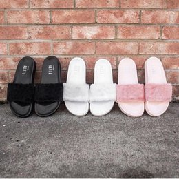 Wholesale DHL Shipping The Best Quality RIHANNA LEADCAT FENTY WOMEN SLIPPERS FUR SLIDES