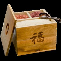 Wholesale Multifunction Japanese Minimalist Design Solid Wood Storage Rice Box Rice Bucket Single Door Type KG Kitchen Tool