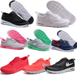 Wholesale Classic Air Mesh Max Thea Sneakers for Cheap Summer White Black Pink Navy Light Breathable Men Women Running Shoes with Original Box