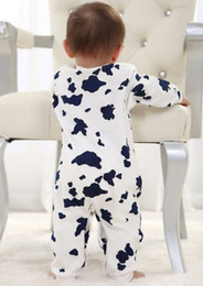 Wholesale- Cute Cow Newborn Girls Boys Clothes Baby Outfit Infant Romper Clothes 0-24M