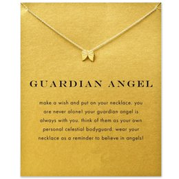 Wholesale Gardian Angle Wing Dogeared Necklace Gardian Angle Noble and Delicate Jewelry K Gold Charm Necklace Classical Birthday Present