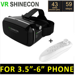 Wholesale Vr d Headset Google Cardboard D VR Box Virtual Reality Glasses With Controller For Smart Phones Watching D Movies Adult Porns Glass VR003