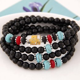 Wholesale High End Fashion Costume Jewelry Imitation Crystal Round Beads Wrist Accessories Statement Wrap Power Bracelets Bangles For Women Lovers