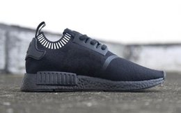 Wholesale New NMD S81849 Japan Runner Triple Black LITE Japanese Limited Edition Primekit Men Women size NMD Runing Boost